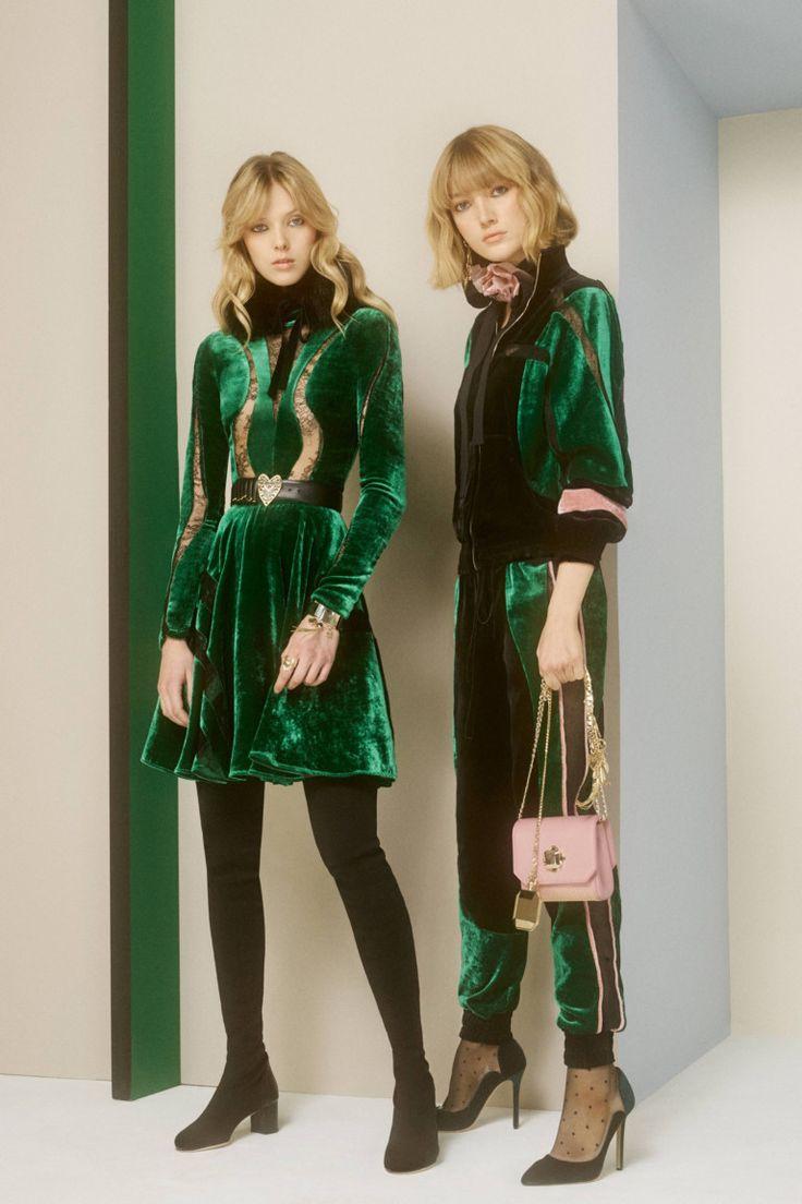 green velvet dress, jacket & track pants