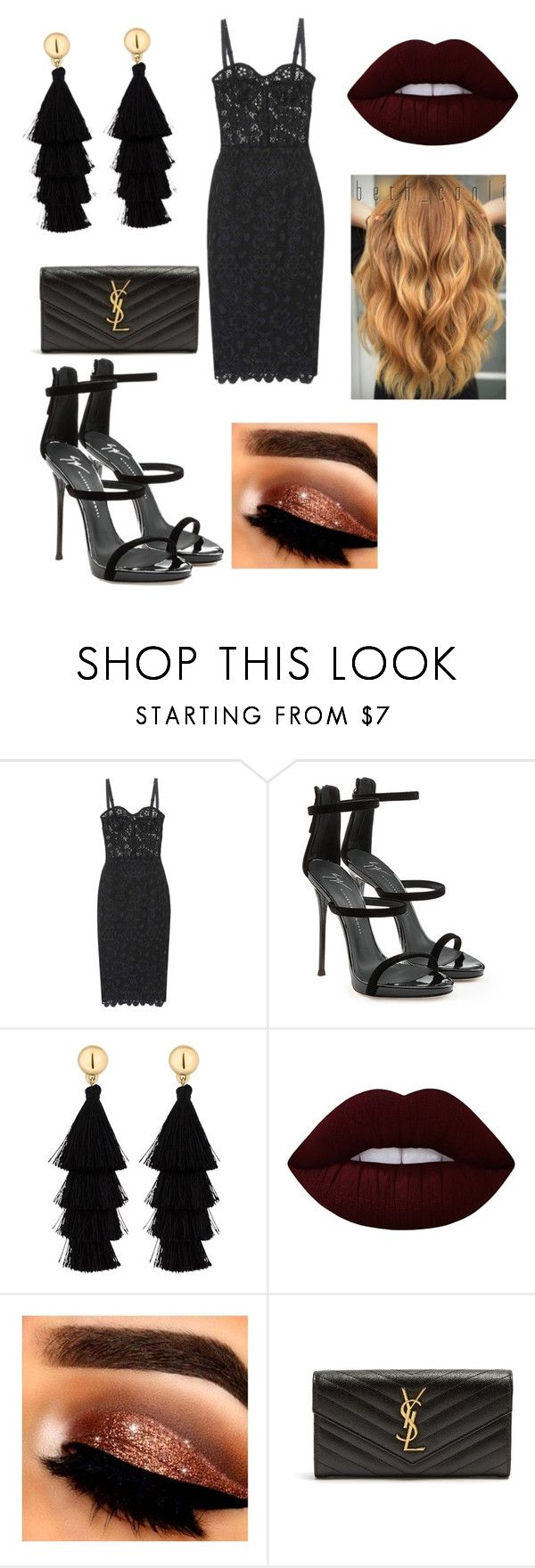 """My First Polyvore Outfit"" by gntm728 ❤ liked on Polyvore featuring Dolce&Gabbana, Giuseppe Zanotti, Red Herring, Lime Crime and Yves Saint Laurent"