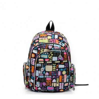 Multicolor Colorful Life Backpack For Ou  EUR 22.00