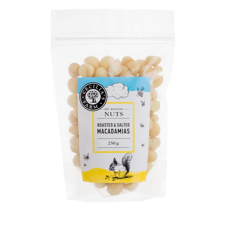 Our macadamia nuts are the only nuts grown locally in South Africa, in the Limpopo province to be precise. Macadamias are loved for their crispy, creamy texture. Roasted and lightly salted, they are a favourite snack. http://ceciliasfarm.co.za/product/roasted-salted-macadamias/