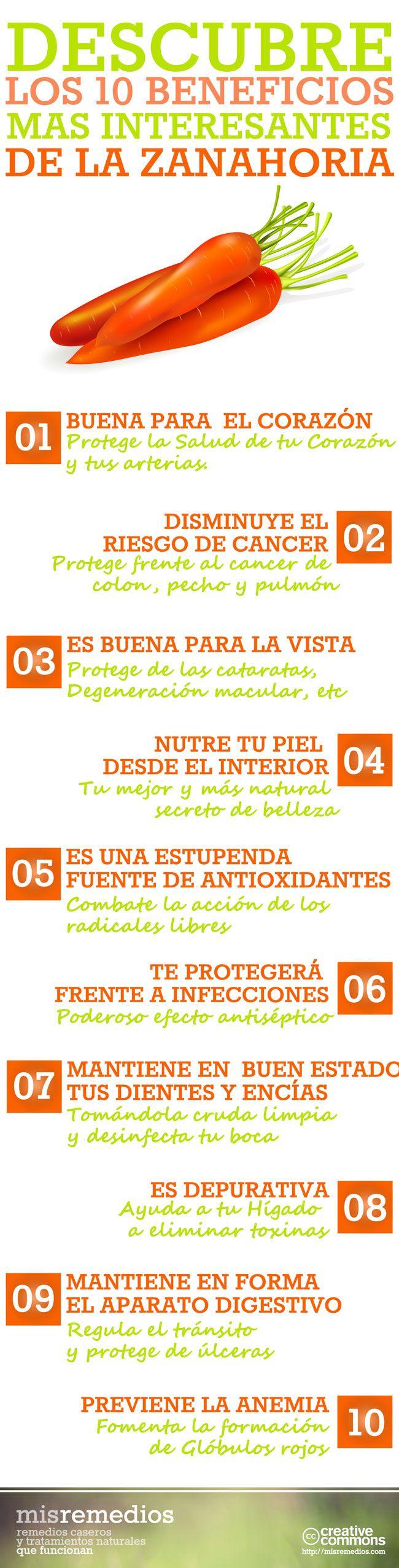 Descubre los 10 Beneficios más Interesantes de la Zanahoria