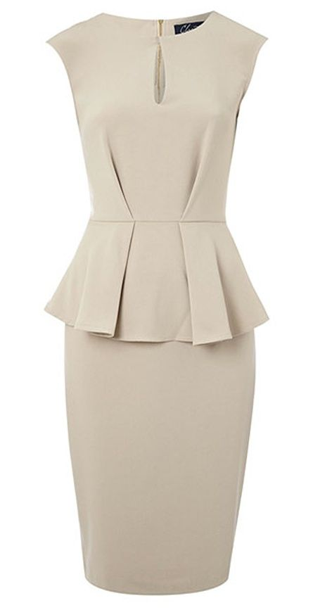 key trends: peplum: Dress