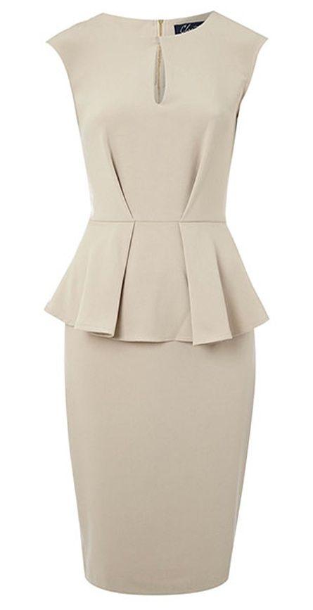 key trends: peplum: Dress