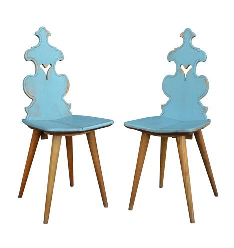 Pair of Oak Side Chairs by Cepelia c1957
