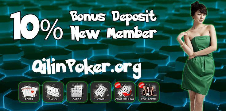 QilinPoker.org adalah sebuah agen poker yang menyediakan 6 permainan kartu online dalam 1 website. Poker, Domino, Capsa, Ceme, Ceme Keliling dan Live Poker bisa dimainkan dengan 1 ID saja.