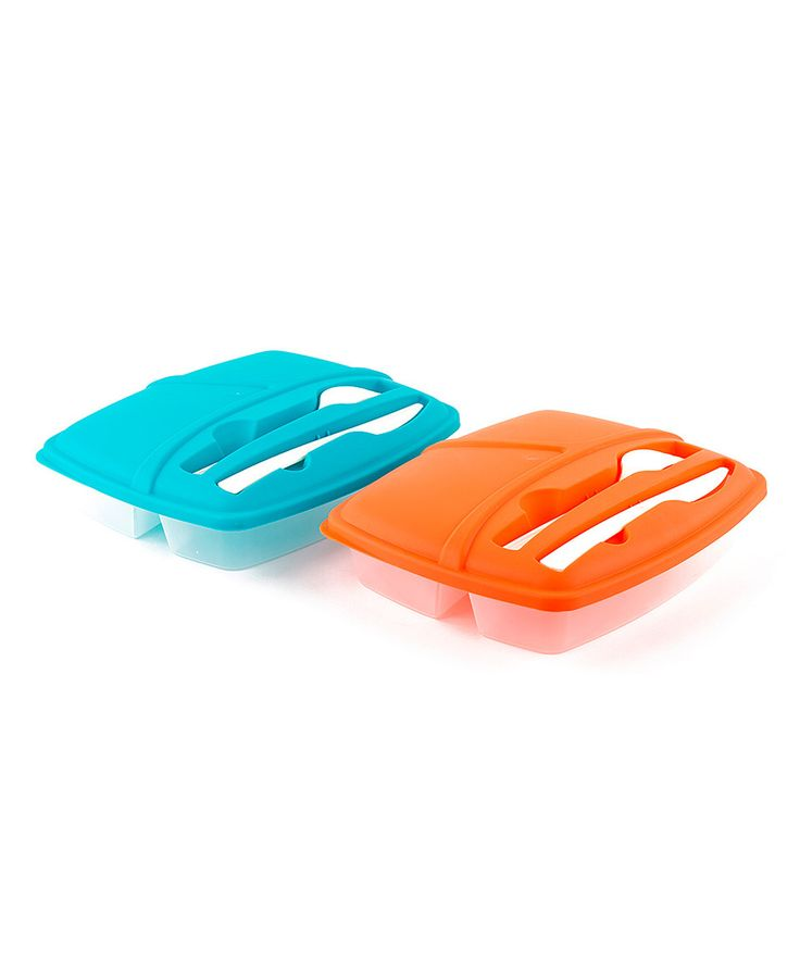 Another great find on #zulily! Micro World Blue & Orange Two-Piece Lunch Box Cutlery Set by Micro World #zulilyfinds