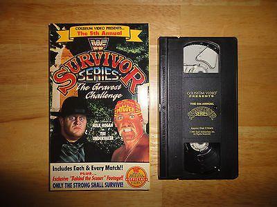 1991 Coliseum Video WWF 5th Annual SURVIVOR SERIES - Non Rental BIG BOX VHS WWE