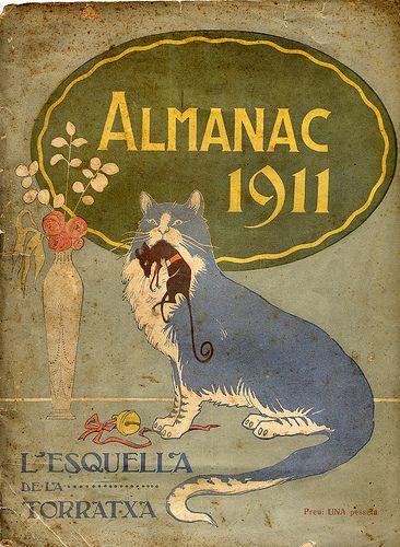 Cover of the Almanach of the Esquella de la Torratxa, 1911.