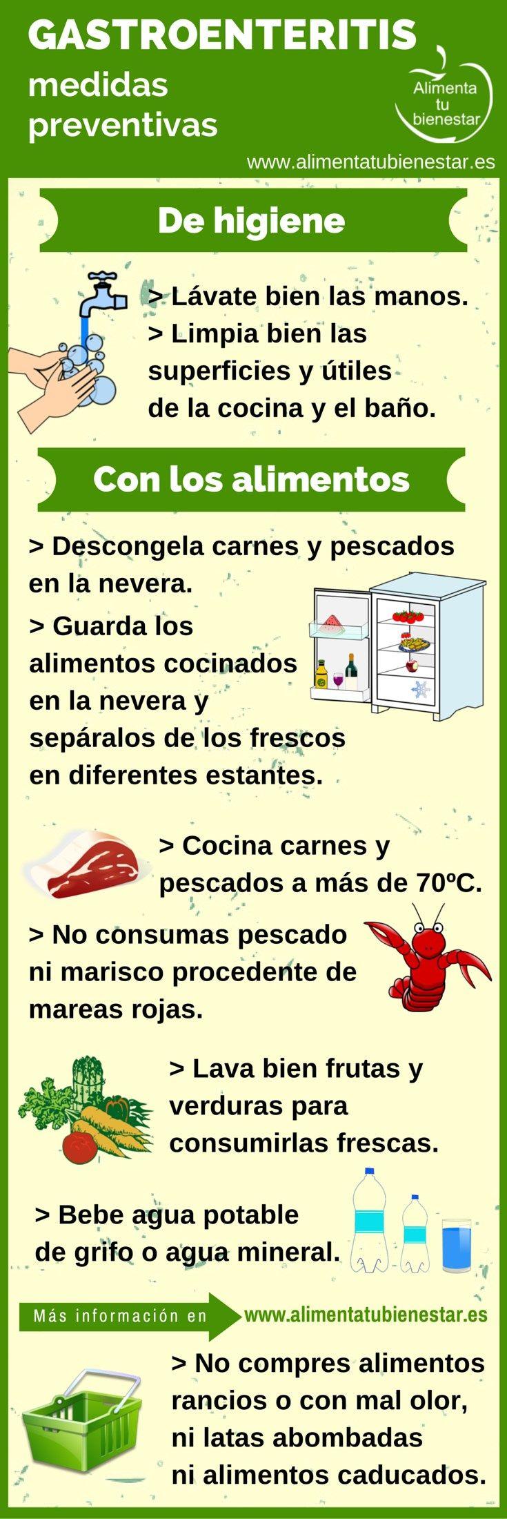 #Infografia #Gastroenteritis: medidas preventivas