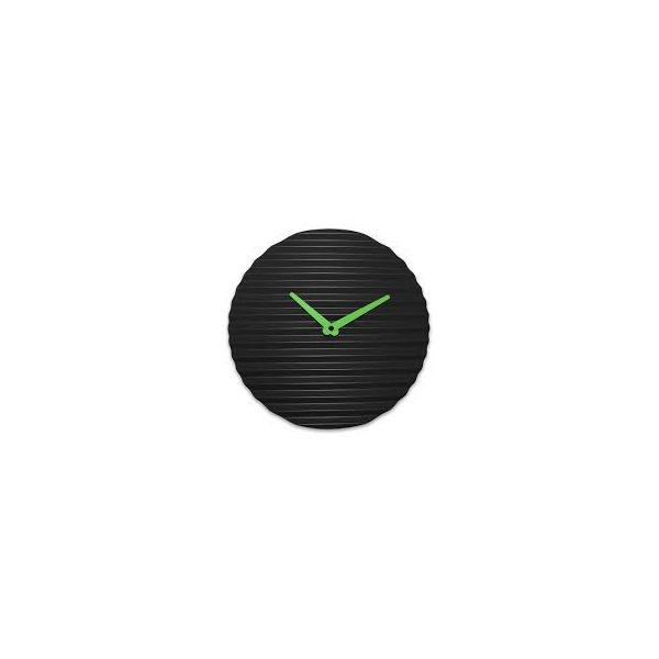 PRODUCTS :: LIVING AND DESIGN :: Accessories and Decorations :: Clocks :: Clocks on wall :: WAVECLOCK Black/lime