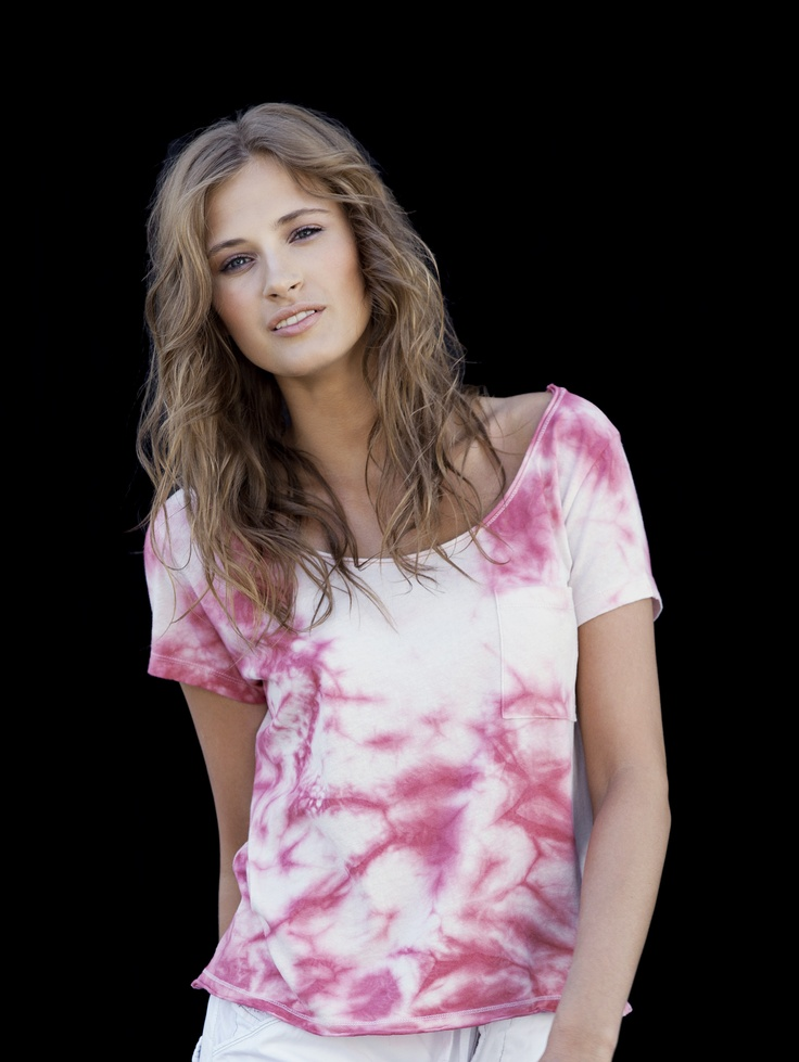 Blue Sportswear.... Style Cleo Tee in antique dye color rose!
