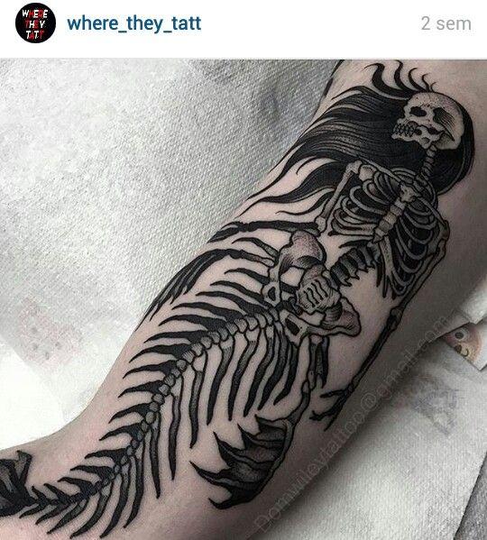 #mermaid #tattoo #skeleton