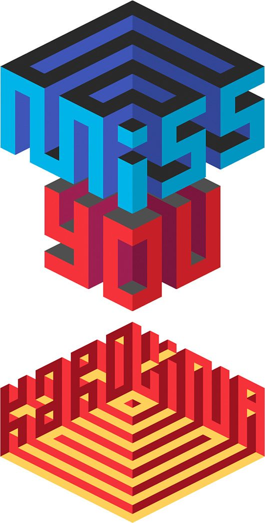 Isometric Typography by Maxim Tictac