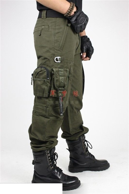 A high quality, very durable pair of pants designed as tactical pants with several pockets and features designed to make the pants fit snugly. Perfect for very high activity and durable for almost any