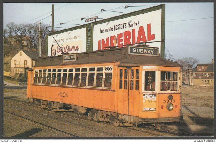 Car #5306, Boston Elevated Railway, Brighton, Massachusetts MA, USA, 1997 - MJRS Inc Postcard