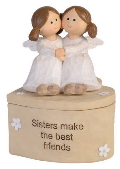 Adoring Angel Trinket Box - Sisters