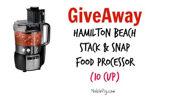 Hamilton Beach Food Processor Giveaway http://noblepig.com/2014/12/giveaway-hamilton-processor/