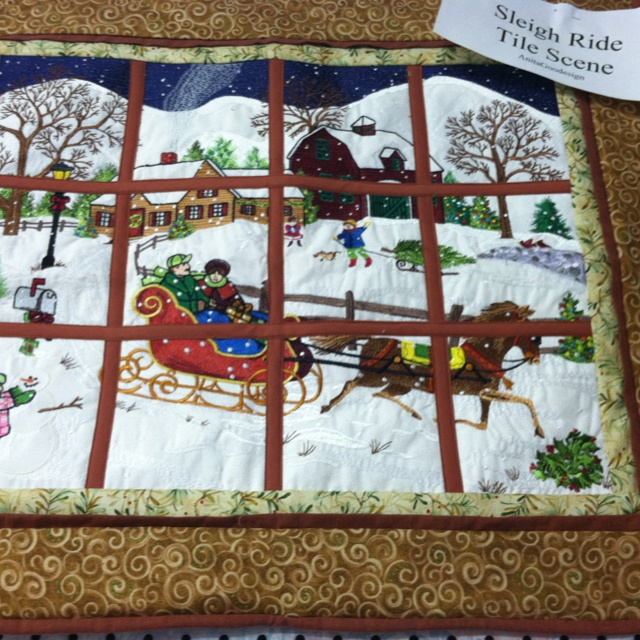 Sleigh ride by Anitagoodesign Embroidery cards