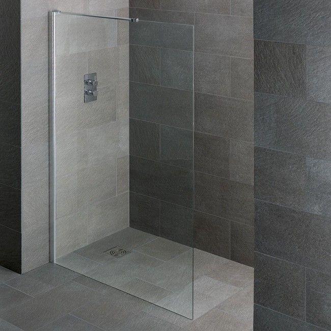 Crossover Walk In Wet Room Shower Screen 500mm Wide - floor mounted