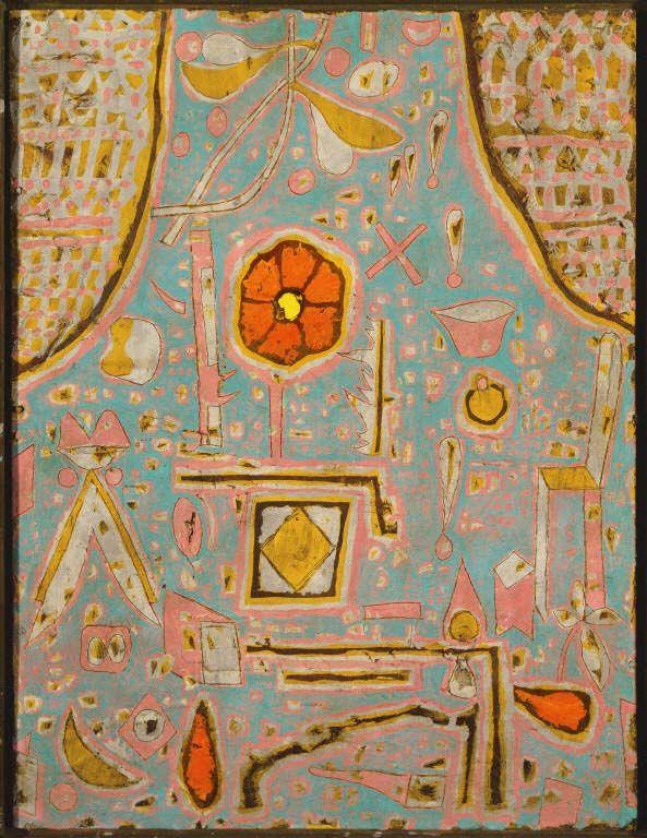 Paul Klee - Efflorescence, 1937, Oil on cardboard, incised