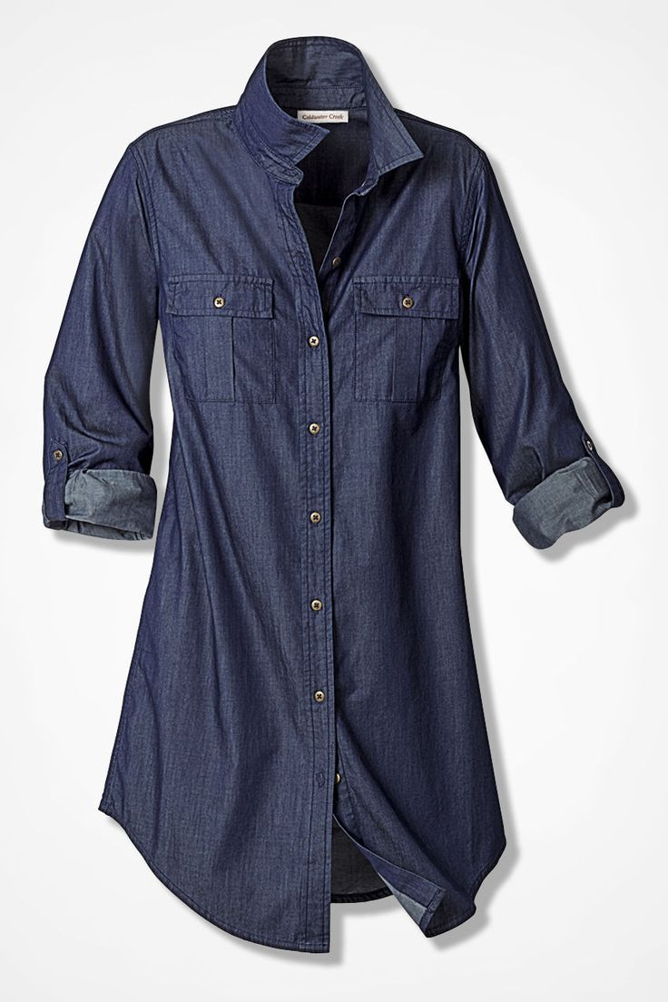 Fluid Denim Tunic - Women's Wovens | Coldwater Creek