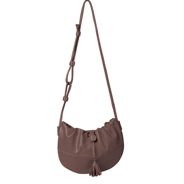 KNOT AT ALL is a gorgeous fun shoulder bag that can be dressed up or dressed down. The pouch has metal signature hardware on each side, and can be drawn at front by the tassle pendant. The strap looped and knotted strap detail allows the handle drop to be adjusted, wear it as a cross body bag or a long shoulder bag.