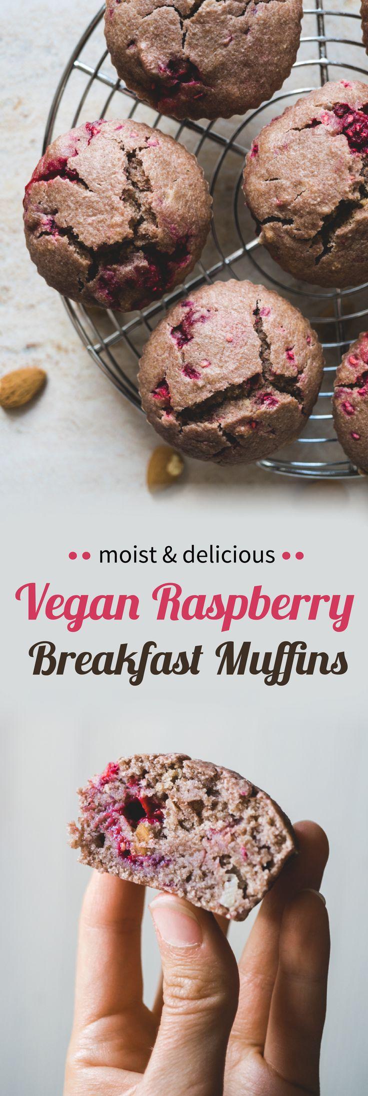 Moist And Delicious Vegan Raspberry Breakfast Muffins