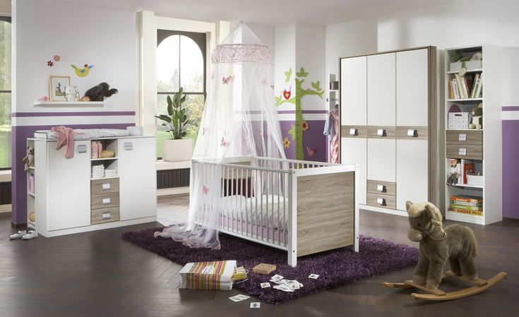 Kinderbett 70x140 weiß Lynn Kinderzimmer, Babyzimmer