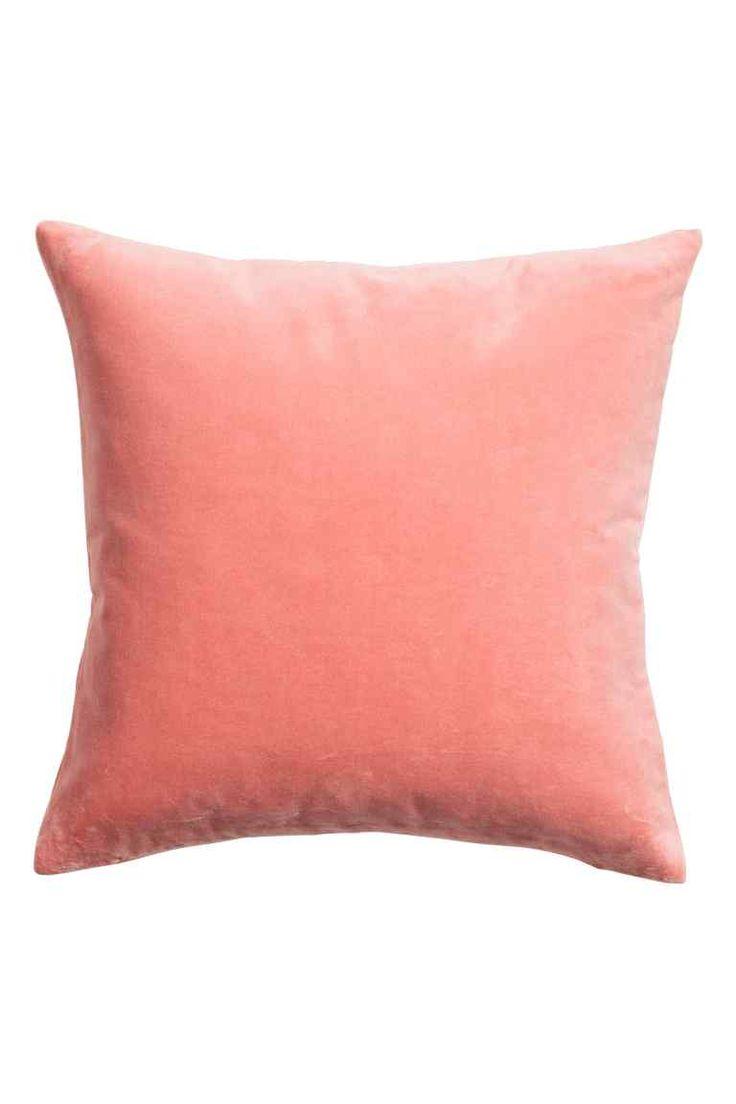 Aksamitna poszewka na poduszkę: Poszewka na poduszkę z bawełnianego aksamitu. Kryty suwak.