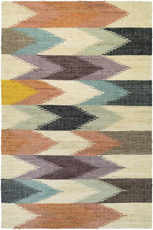 Introducing the Mesquite collection, an assortment of beautiful area rugs offered in a range of brilliant colors. These laid back, flat woven area rugs showcase large-scale, bold geometric designs with rustic accent hues. Hand-crafted in India of 100% hand-spun jute, these spectacular area rugs feature a unique Punjab Weave, making for a cozy and inviting atmosphere. The Mesquite collection is a fabulous option for those looking for pieces that combine provincial fashion with practical ...