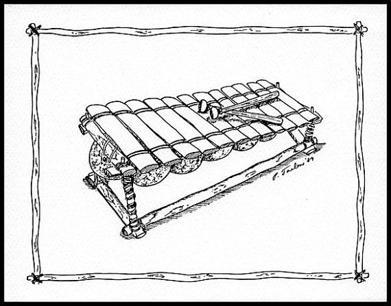 Line Drawing Of Xylophone : Top ideas about instruments on pinterest contour line
