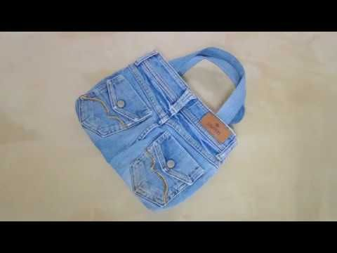 How To Make Bag With Old Jeans - YouTube