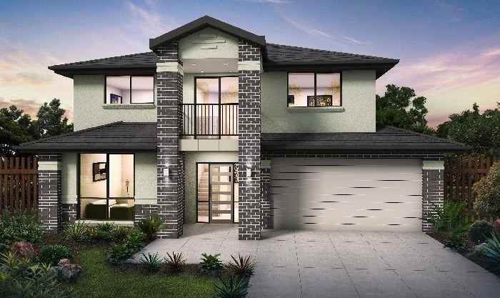 Masterton Home Designs: Accent - Executive Hero RHS Facade. Visit www.localbuilders.com.au/builders_nsw.htm to find your ideal home design in New South Wales