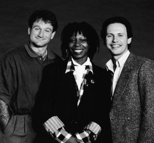 Робин Уильямс, Вупи Голдберг и Билли Кристал, 1986