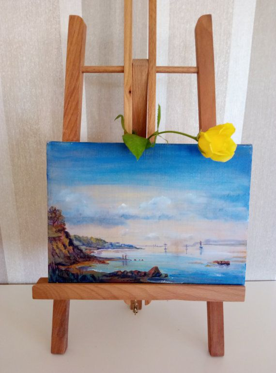 пейзажная живопись на холсте небольшого размера современная живопись на холсте маленький пейзаж украшение для интерьера картина маслом искусства