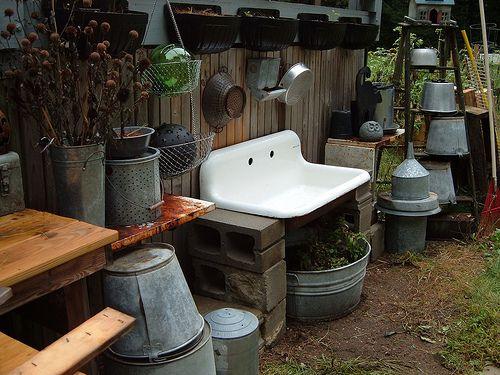 Outdoor Farm Sink : ... farm sink Sinks outside Pinterest Old Sink, Sinks and Farm Sink