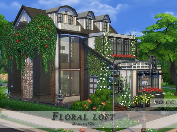 Floral loft by Danuta720 at TSR via Sims 4 Updates