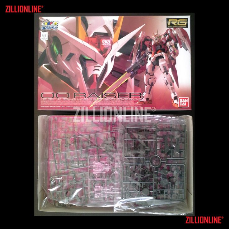 [MODEL-KIT] [P-BANDAI] RG 1/144 - 00-RAISER GUNDAM (TRANS-AM CLEAR VER.). Item Size/Weight :31 x 19.1 x 8.3 cm / 540 g* (*ITEM SIZE & WEIGHT BEFORE PACKAGED). Condition: MINT / NEW & SEALED RUNNER. Made by BANDAI.