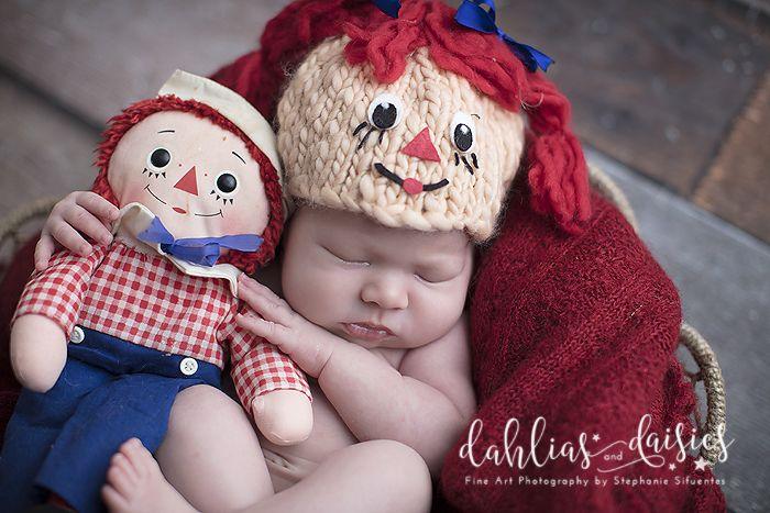 Dallas Newborn Photographer, newborn girl, raggedy anne and andy