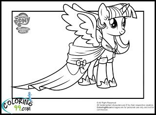 my little pony party twilight sparkle coloring pages - Twilight Coloring Pages Print