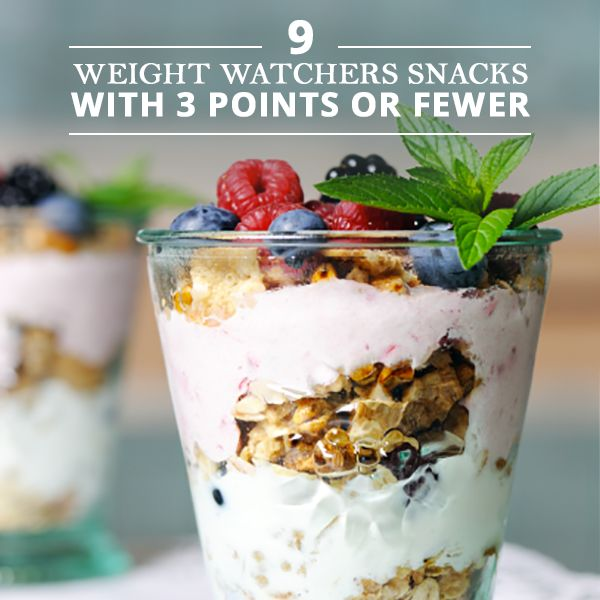 9 Weight Watchers Snacks for 3 Points or Fewer #weightwatchers #points #ww