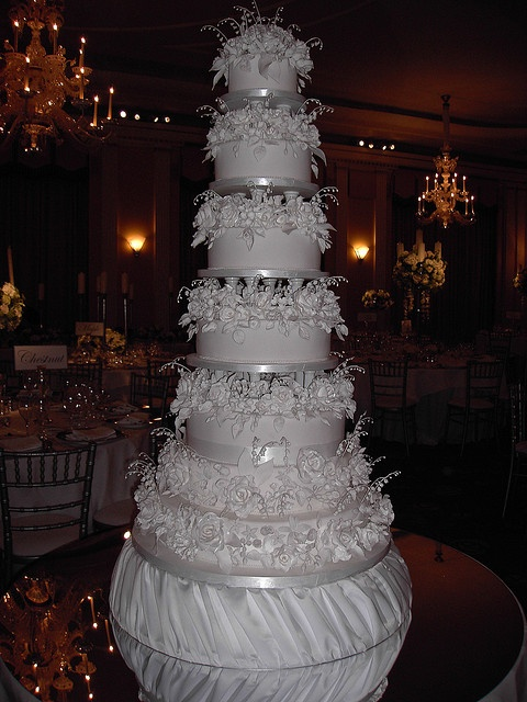 My wedding cake. I HAVE to have the 7 tiered white chocolate torte enrobed in marzipan with edible pearls and flourishes.