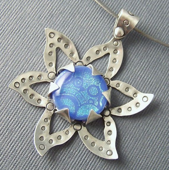 Ready to Ship One of A Kind Sterling Silver  and Periwinkle