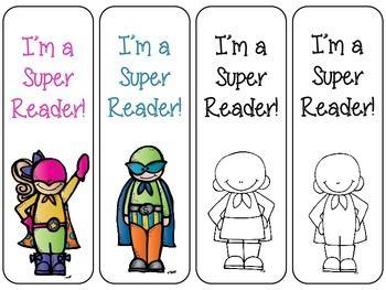 4 FREE SUPER READER BOOKMARKS - TeachersPayTeachers.com