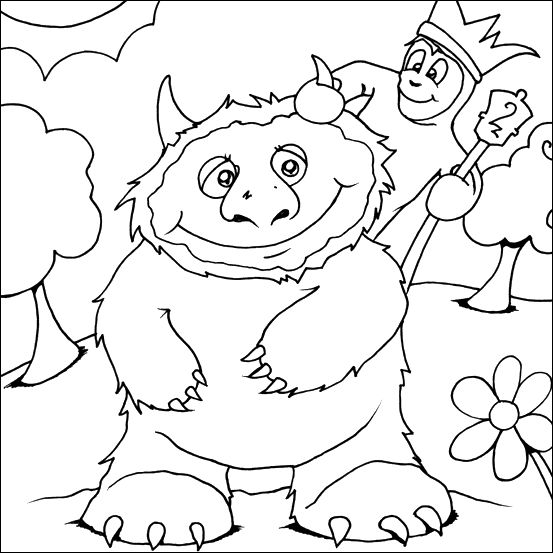 Where The Wild Things Are Book Coloring Pages FREE