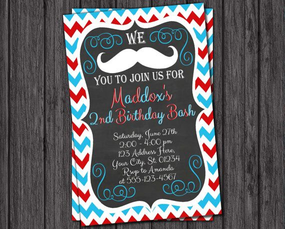 19 best Mustache Birthday Party images – Costco Birthday Invitations