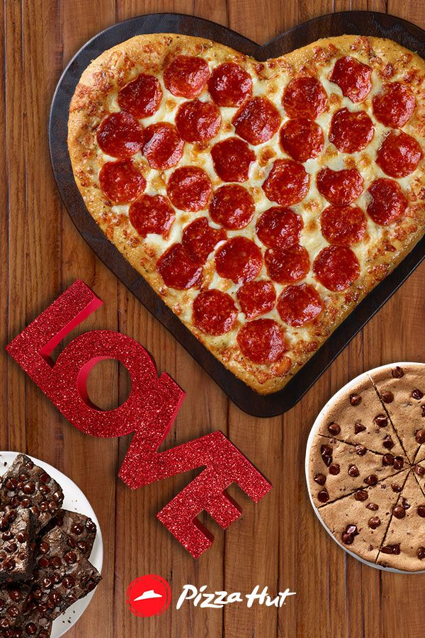 We've got you covered on date night for Valentines day. Get the Valentine Bundle delivered from pizza hut for the kids and babysitter. Includes a Heart Shaped Pizza and your choice of HERSHEY'S® dessert.