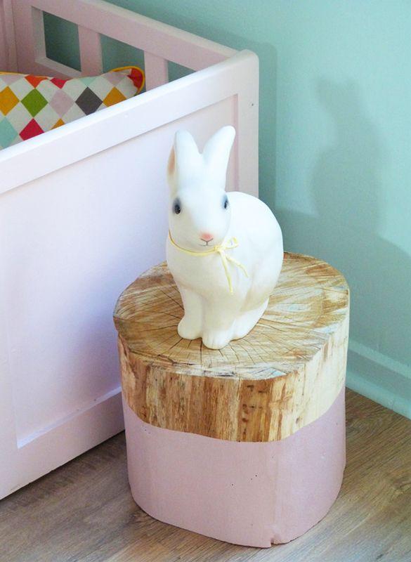 rondin en bois chevet decoration