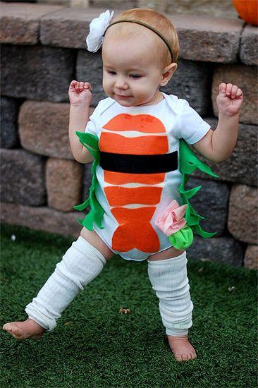Disfraz casero de sushi para bebés
