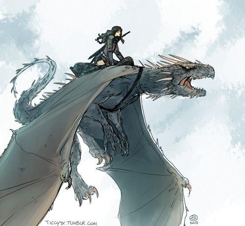 Carmilla being a dragon rider